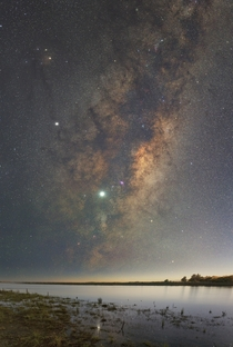 The Galactic Core rising over the Waipara River Canterbury New Zealand