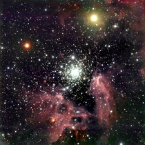 The Galactic Starburst Region NGC