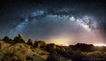 The Galaxy Over Lizards Mouth - California