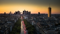 The Gate - the La Dfense business district of Paris photographed from the top of the Arc de Triomphe  by Jrme Gauthi