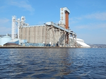The Gavilon grain elevators and ship loading facility in Superior WI