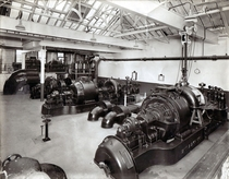 The generator room at Black Dyke Mills Queensbury cs