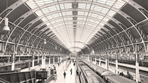 The geometry of Paddington Station Isambard Kingdom Brunel  really caught my eye this morning