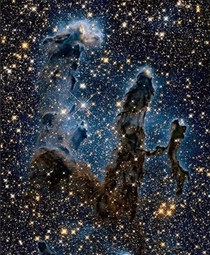 The ghostly Pillars of Creation