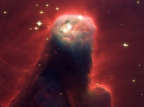The ghostly star-forming pillar of gas and dust of the Cone Nebula in NGC