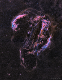 The Ghostly Veil Nebula by Anis Abdul