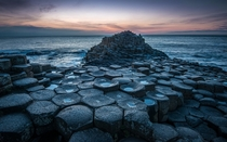 The Giants Causeway - an area of about  interlocking basalt columns on the northeast coast of Northern Ireland  by Greg Sinclair