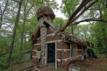 The Gingerbread House from the abandoned Enchanted Forest amusement park in Ellicott City Maryland