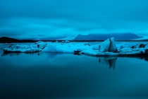 The glacier lagoon reflected Jkulsrln Iceland  x