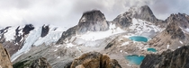 The glorious Bugaboos from the top of Eastpost Spire -