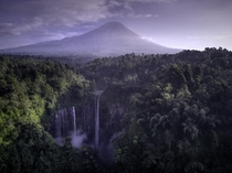 The glorious Tumpak Sewu waterfall tucked away in the jungles of Eastern Java in the shadow of Mt Semeru