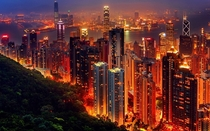 The glow of Hong Kong
