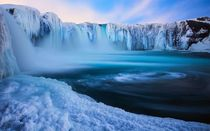 The Goafoss the Waterfall of the Gods in Mvatn Iceland