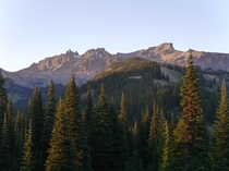 The Goat Rocks Wilderness Washington in the late evening sun