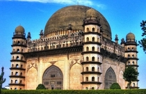 The Gol Gumbaz meaning circular domein Vijapur India This structure has a whispering gallery It has been built in such a way that a small whisper gets amplified and is carried across a distance of more than  meters in the vast dome and can be heard clearl