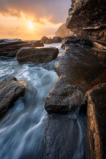 The Gold Rush II welcome to my local photography spot under some great light Warriewood Blowhole