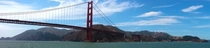 The Golden Gate Bridge from San Francisco Bay
