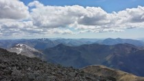The grampians from the summit of Ben Nevis