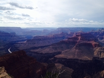 The Grand Canyon before sunset with a view of the Colorado River Grand Canyon NP Coconino County AZ