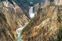 The Grand Canyon of Yellowstone flows