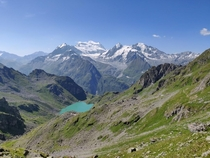 The Grand Combin in the Swiss alps taken while hiking the walkers haute route Chamonix to Zermatt -