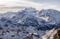 The Grand Combin Massif - taken yesterday morning from the summit of Mont Fort - Verbier Switzerland