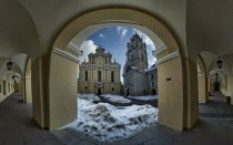 The Grand Courtyard of Vilnius University and Church of St John Lithuania