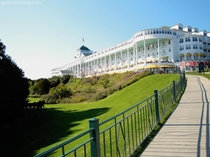 The Grand Hotel Worlds Largest Covered Porch - Mackinac Island Michigan