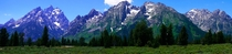 The Grand Teton Range in Wyoming panoramic