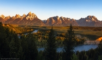 The Grand Tetons from Snake River Overlook Ansel Adams took one of his best photographs from here