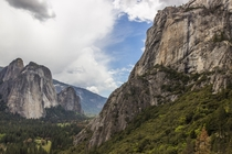The granite walls of Yosemite National Park