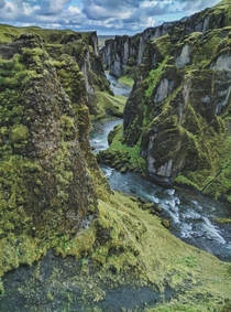 The Gray and the Green Fjarrgljfur Canyon Iceland