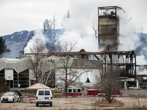 The Gray rocks a  years old abandoned ski resort in Quebec has burned down yesterday Officials say the fire is suspicious and might be criminal Album in inside