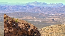 The great barren landscape of Big Bend National Park Texas