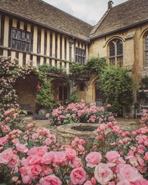 The Great Chalfield Manor a th century late medieval English manor house in Great Chalfield Wiltshire England