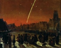The Great Comet of  over Rotterdam