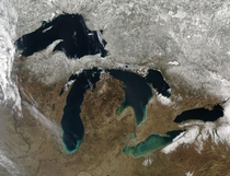 The Great Lakes  Credit Jeff Schmaltz MODIS Rapid Response Team NASAGSFC