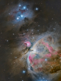 The Great Orion Nebula M and The Running Man NGC  from my backyard