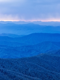 The Great Smoky Mountains from Clingmans Dome North Carolina