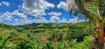 The green mountains of The Dominican Republic