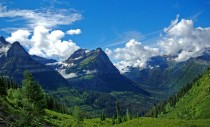 The green valleys of Glacier National Park