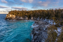 The Grotto during a windy January day Bruce Peninsula National Park Canada  Social mikemarkov