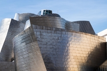 The Guggenheim Museum in Bilbao Spain with a skin of titanium