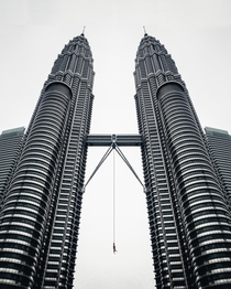 The guy just send it  PETRONAS TOWER