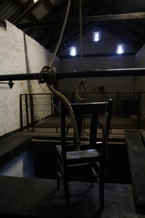 The hanging scaffold at Fremantle Prison Australia last used in  by Chris Quinn
