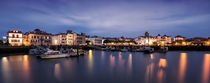 The harbor of Saint Jean de Luz in south-western France