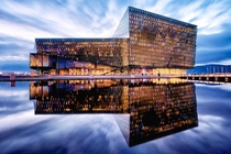 The Harpa concert hall and conference center in Reykjavk Iceland  by Stijn Van der Biest x-post rIsland