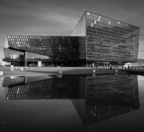 The Harpa concert hall in Reykjavik
