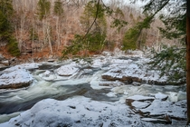 The Haystacks of Loyalsock Creek covered in snow - Pennsylvania Wilds -
