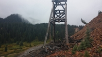 The headframe of the National Belle Mine Red Mountain Town Colorado